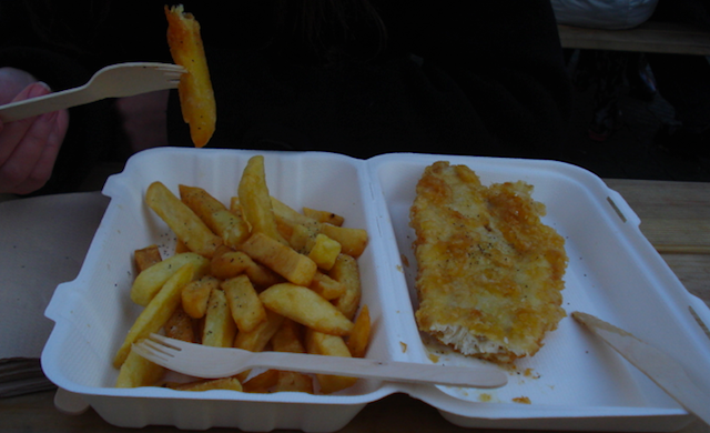 Fish and chips_Hyde Park_Londres