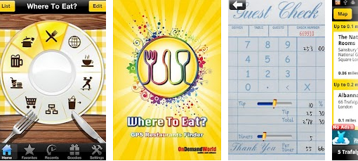 Where to eat? Aplicativo para smartphone