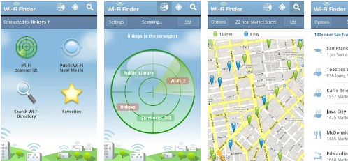 wifi finder aplicativo para smartphone