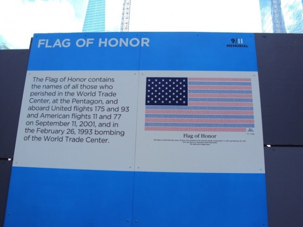 Flag of Honour - Ground Zero_Nova York