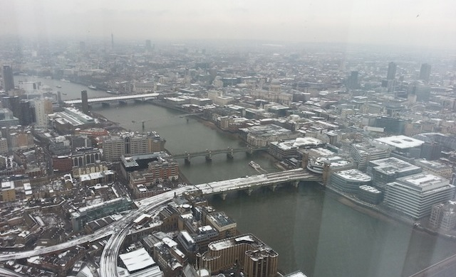 St Paul's Cathedral, Millenium Bridge - The view From The Shard