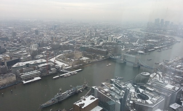 Tower Bridge The view from The Shard 640x390 The View from The Shard   Londres por todos os lados!