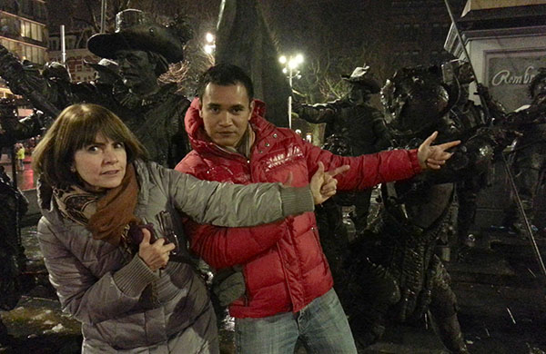 Rembrandtplein - Keith Jenkins and me - Amsterdam - Winter 2013