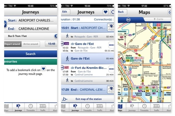 RATP - aplicativo para iPhone