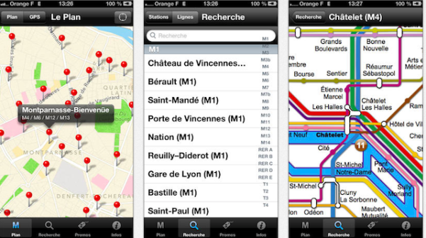 Metro Paris - Aplicativo para iPhone