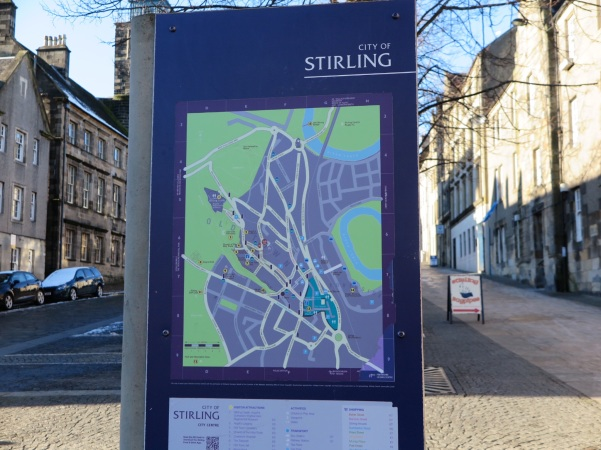 Mapa de Old Town Stirling - Escócia
