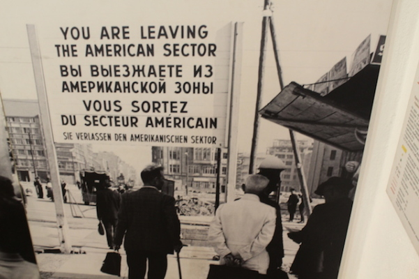 Youareleaving ...- CheckpointCharlie